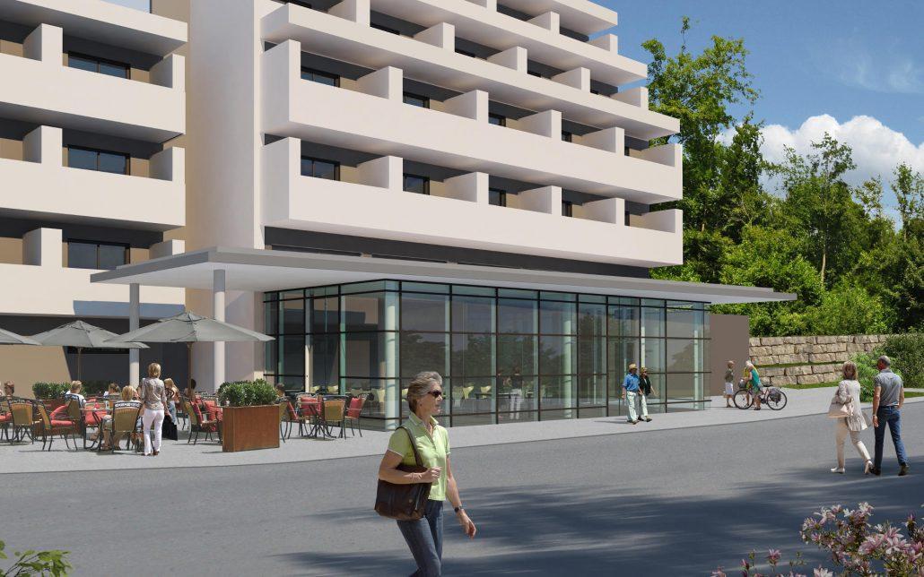 Grundlegender Umbau, Neugestaltung und Umnutzung Pflegezentrum in Esslingen