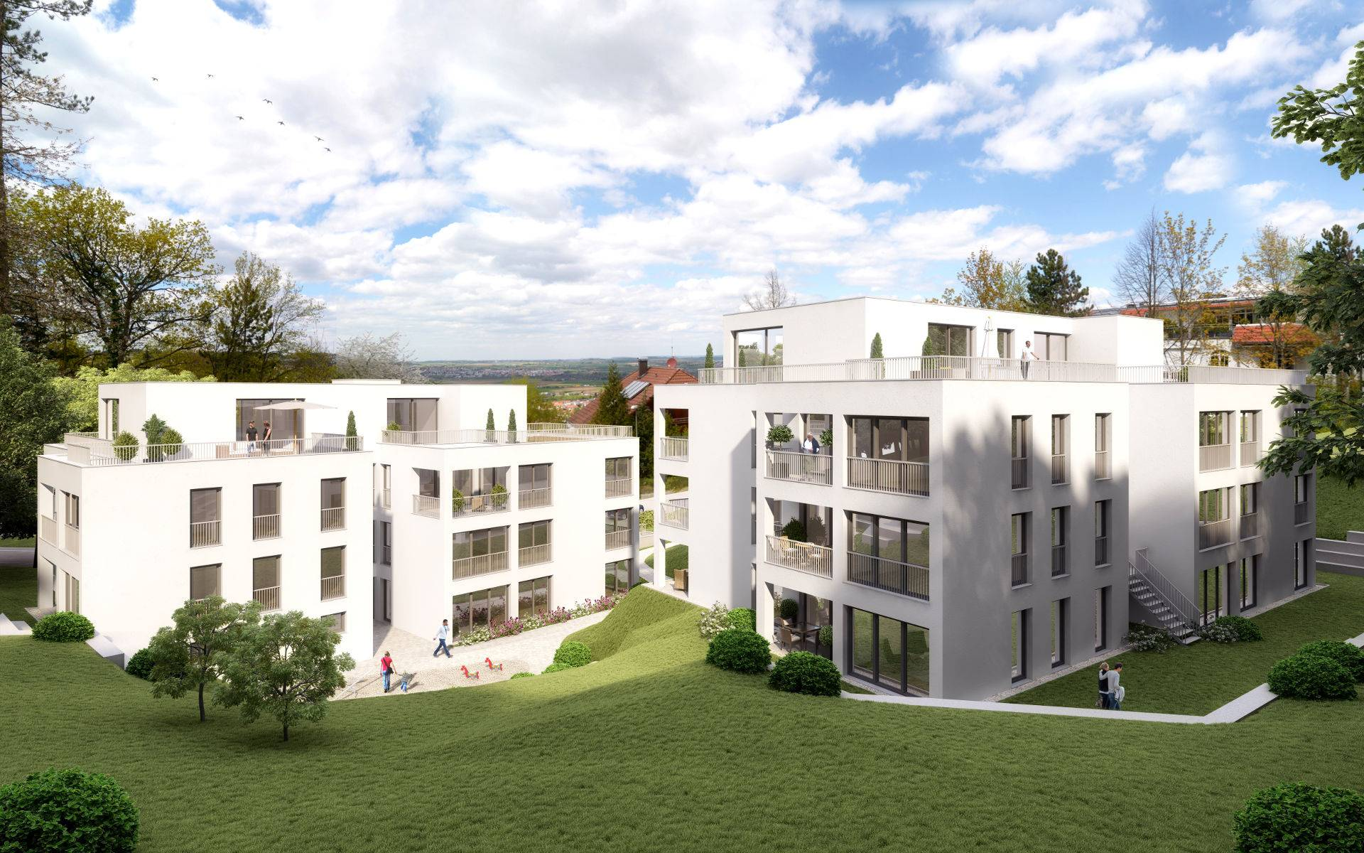 Neubau Mehrfamilienhäuser in Gerlingen