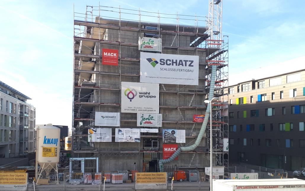 Baustellenreport Neubau Mikroapartments und Kita in Böblingen