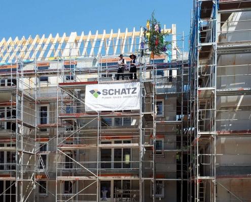Richtfest Wohnen am Königsturm in Schwäbisch Gmünd