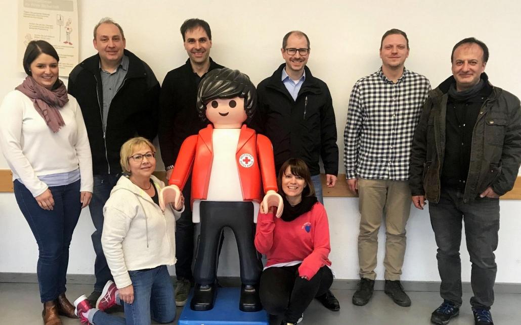 v. l. n. r.: Janina Bulling, Kai-Uwe Eckert, Gabriele German, Florian Neher, Melanie Horst, Thomas Weckerle, Marc Prillwitz, Adem Sahin