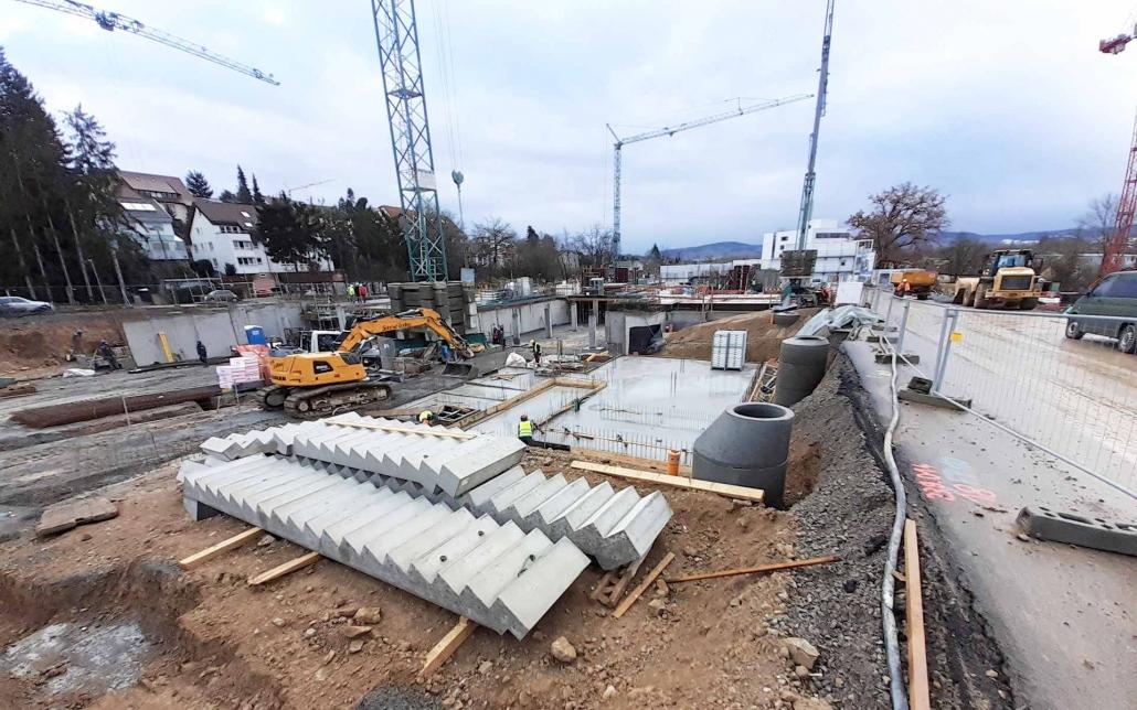 Baustellenreport Kita und Mehrfamilienhäuser in Waiblingen