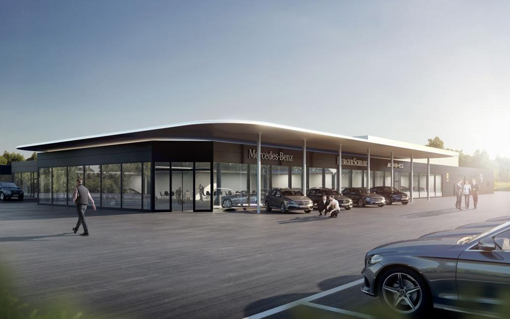 Umbau und Erweiterung Mercedes-Benz-Autohaus in Uhingen