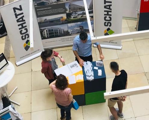 SCHATZ auf der Firmenmesse der HfT Stuttgart