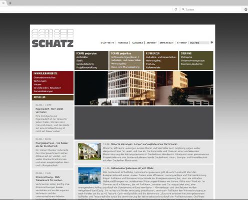 Screenshot Website 10/2008 - 06/2010