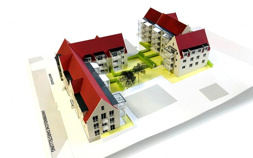 Modell Wohnen am Königsturm in Schwäbisch Gmünd