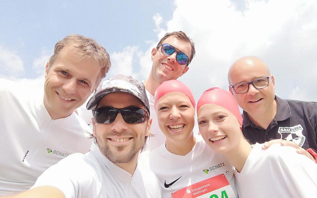 v. l. n. r.: Hans-Uwe Kuhnle, Hans-Peter Weber, Wolfgang Pail, Lucia Hasert, Alina Strobel, Hartmut Englert